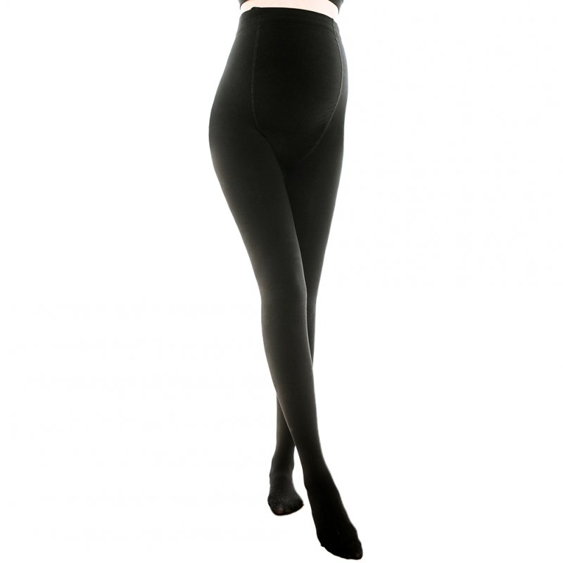 Pregnant Women Thin Pantyhose Large Size Adjustable Leggings Black_One size