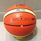 Premium Leather Basketball Outdoor Indoor Match Training Inflatable Basketball  Orange_No. 7 basketball (standard ball)
