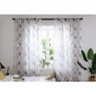 Printing Curtain Spring Tulle for Living Room Bedroom Children Room Window Screening Coffee_1 * 2 meters high
