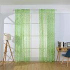 Printing Curtain Window Screen Tulle for Living Room Bedroom Balcony Decor green_1m wide x 2m high pole