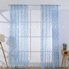 Printing Curtain Window Screen Tulle for Living Room Bedroom Balcony Decor blue_1m wide x 2m high pole