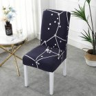 Printing Removable Chair Cover Stretch Elastic Slipcoversfor Weddings Banquet star_One size