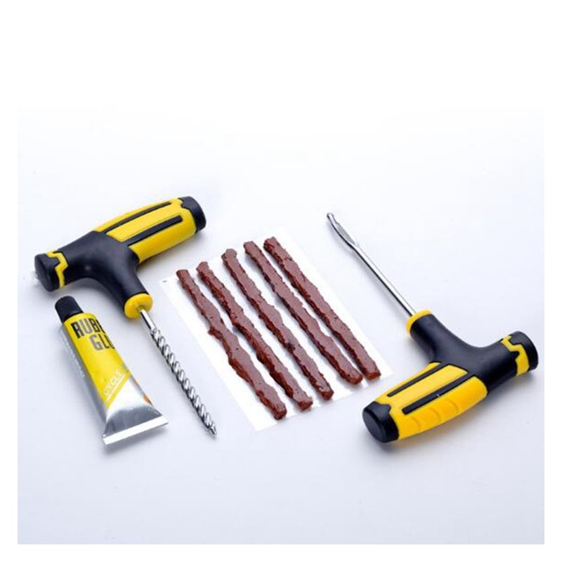 Professional Car Tire Repair Kit Auto Bike Motor Tubeless Tire Tyre Puncture Plug Drill Bit Repair Tool