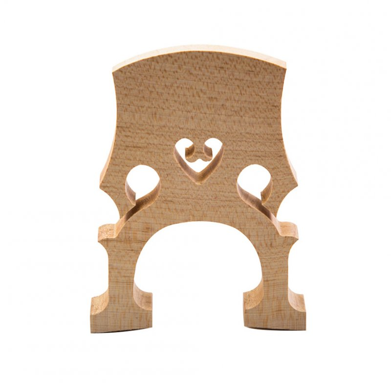 Professional Cello Bridge for 4/4 3/4 1/2 1/4 1/8 Size Cello Exquisite Wooden Material Wood color_1/4