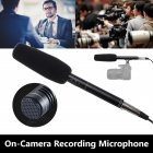 Professional Condenser Microphone for Reporter Interview Live Recording black