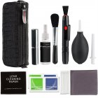 Professional DSLR Lens Camera Cleaning Kit Spray Bottle Lens Pen Brush Blower  black