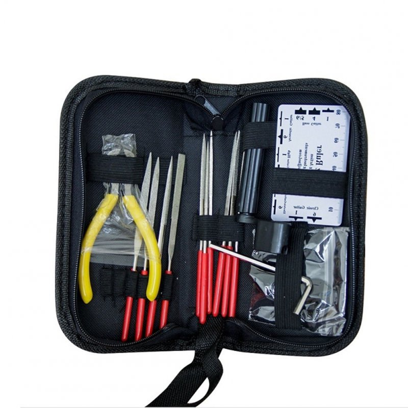Professional Guitar Care Tool Set Repair Maintenance Tech Kit for Acoustic Electric Bass Guitar Tools Kit Accessories color random