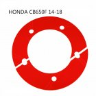 Professional Motorcycle Rear Chain Gear Decorative Cover for HONDA CB650F red