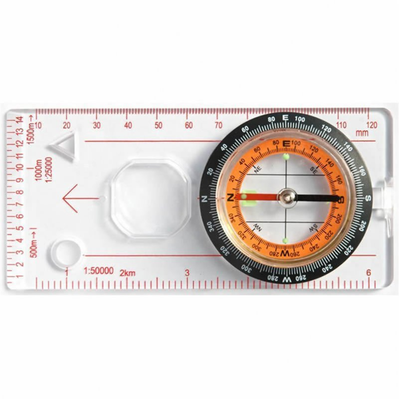 Portable Magnifying Compass Ruler
