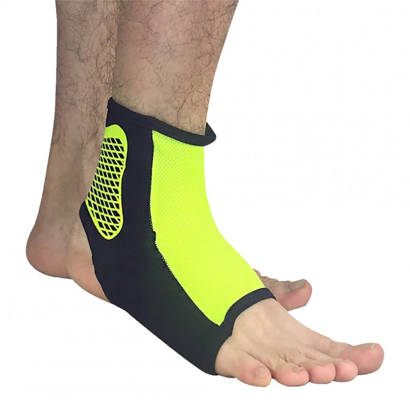 Professional Sports Ankle Support Breathable Ankle Guard Compression Socks Outdoor Basketball Football Sprain Protective Clothing Fluorescent Green XL