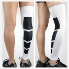 Professional Sports Knee Warm-keeping Compression Sleeve Leg Protection for Outdoor Basketball Football white_L