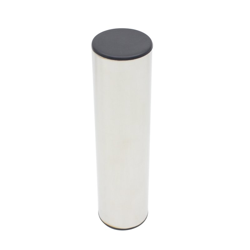 Professional Stainless Steel Cylinder Sand Shaker Rhythm Musical Instruments Metal Hand Percussion  Silver