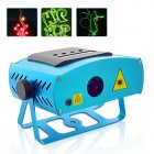 Programmable Laser projector with Red  Green and Blue lasers  SD card slot and sensitivity control  Enjoy the 99 preset patterns or program your own