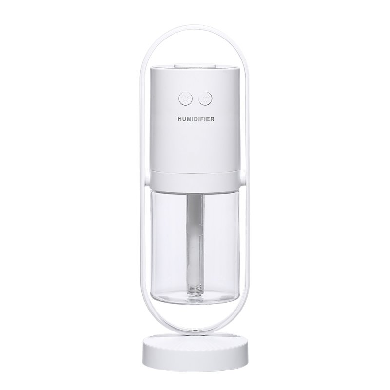 Projection Lantern Desktop Mini Humidifier 360 Degree Rotating Car Humidifier Home Office white