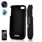 Protective Case with External Battery and Speaker Amplifier for iPhone 4   Give that shiny smartphone the power boost it needs to make it through the day