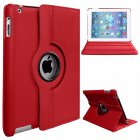 Protective Cover 360-degree Rotating Leather Case for Apple ipad  Air/ipad5 red