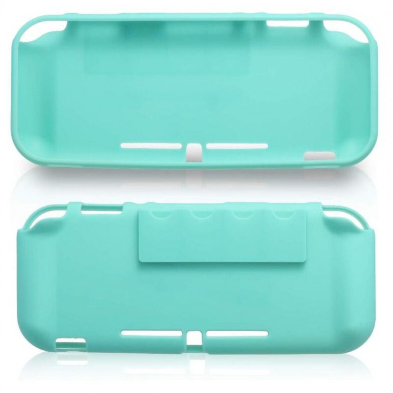 Protective Cover+Tempered Glass Screen Protector+3 in 1 Clean Supplies Set for Switch Lite blue