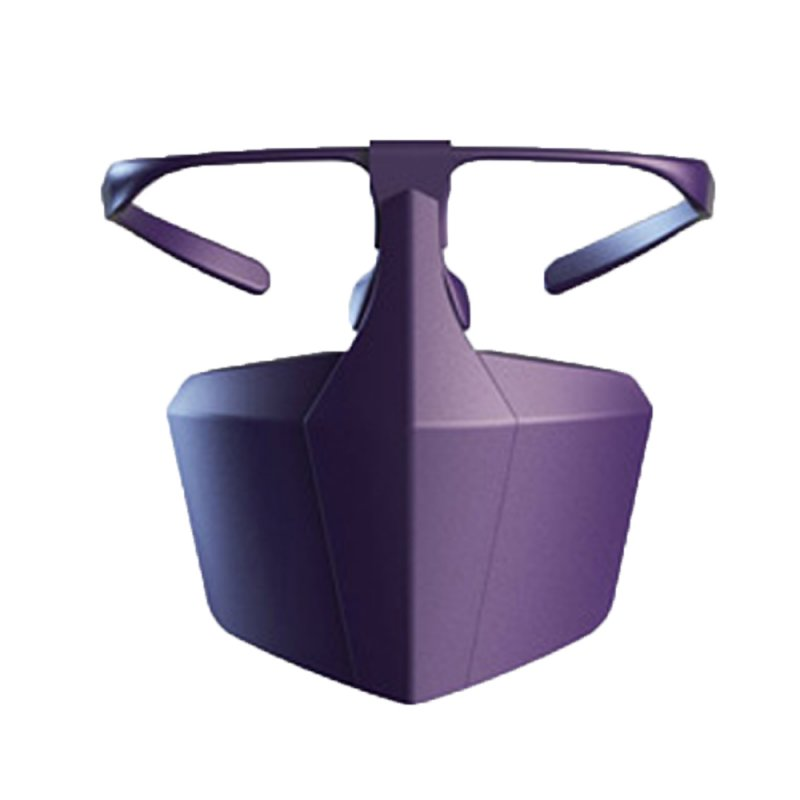 Protective Mask Spectacle Type Splash Proof Anti Droplet Quarantine Women Man Mask Adult Face Shields  purple_1 pc