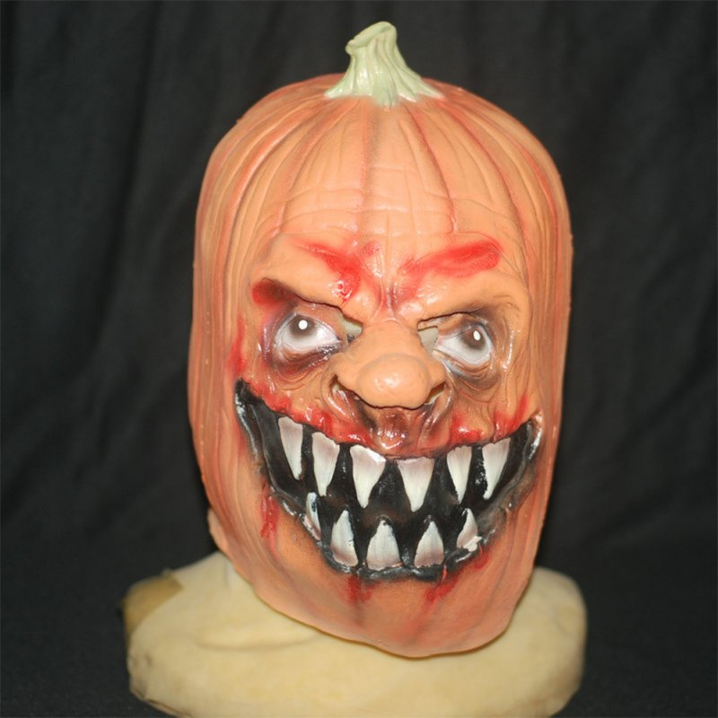 Pumpkin Skull Mask Child Mask Halloween Toy Game Mask Pumpkin color
