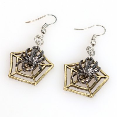 Punk Jewelry Halloween Pumpkin Earrings New Funny Bat Spider Halloween Earrings spider