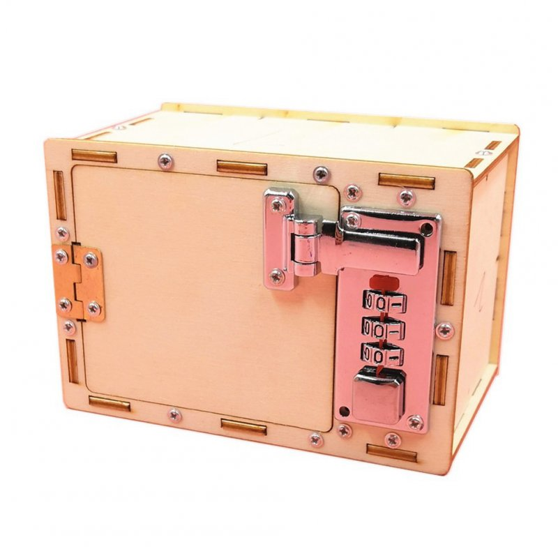 Pupil Creative Science Lab Invent Material DIY Mechanical Code Case Stem Toy Wooden