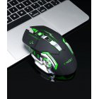 Q13 2.4GHz Wireless 2400DPI Mouse Rechargeable Silent Backlight Game Mice USB Receiver for PC Laptop Gamer black