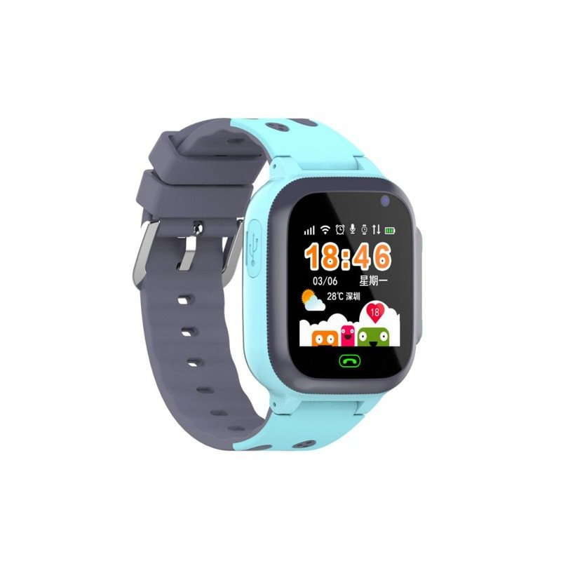 Q16B Children Smart Watch 2G GSM Network Wrist Bracelet Pin Buckled Alarm Clock 1.44inch Sport Screen blue