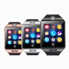 Q18 Smart Watch Mobile Phone Bluetooth Card Smart Fashion Wristwatch black