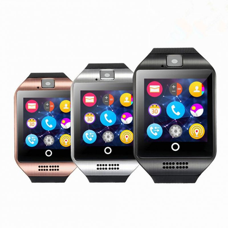 Q18 Smart Watch Mobile Phone Bluetooth Card Smart Fashion Wristwatch Gold