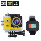 Q3 Full HD 1080P Action Camera with remote controls  30meter waterproof IP68 case and all the fittings you need to record all your adventures in life