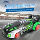 Q89 1:20 Remote Control Car Four-wheel Drive Racing Car with Light and Music green