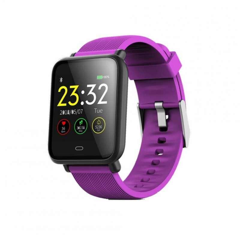 Q9 Smart Watch Blood Pressure Heart Rate Monitor Fitness Waterproof Bracelet purple