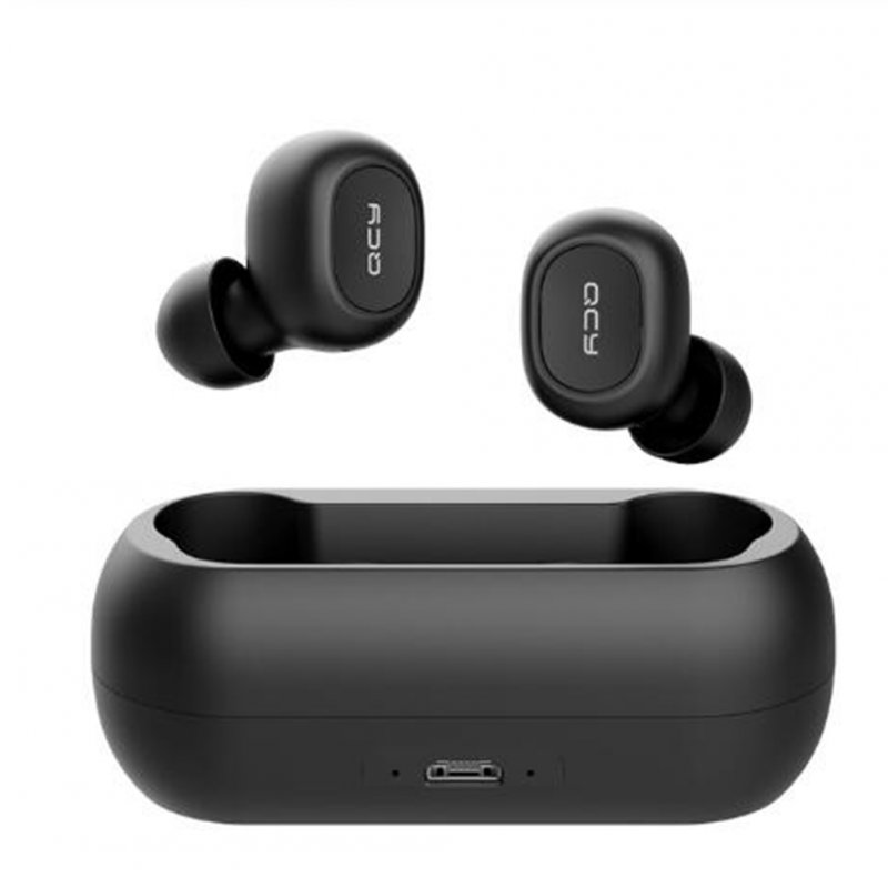 QCY qs1 TWS 5.0 Bluetooth Headset 3D Stereo Wireless Headset with Dual Microphone black