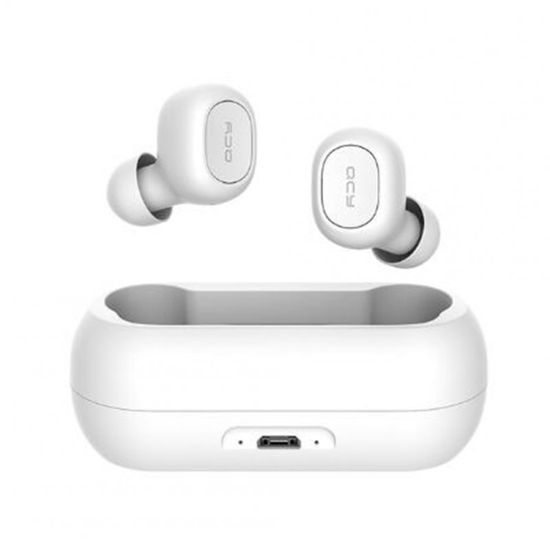 QCY qs1 TWS 5.0 Bluetooth Headset 3D Stereo Wireless Headset with Dual Microphone white