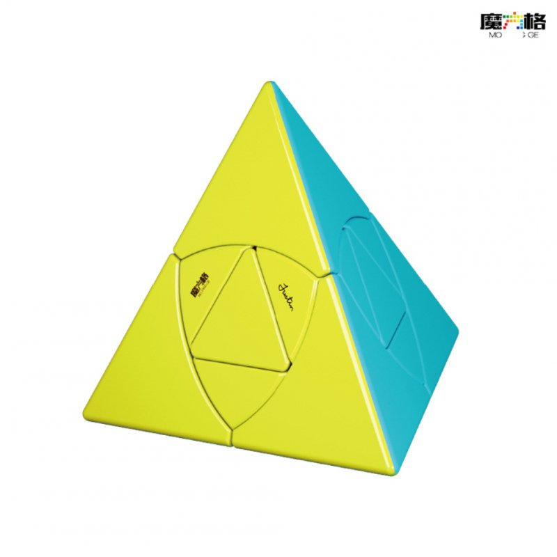 Qiyi Magic Cube Pyramid Smooth Speed Cube Educational Toy color