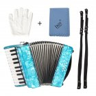 22-Keys 8 Bass Accordion Musical Instrument Rhythm Band for Beginner Children blue
