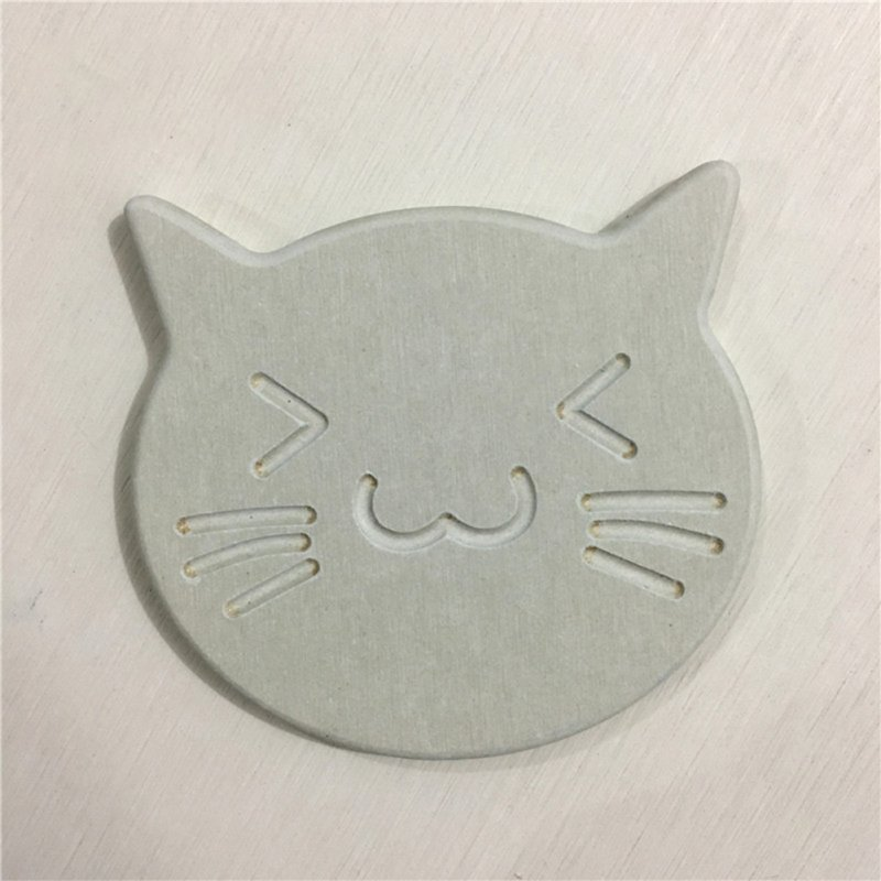 Quick-drying Cartoon Cat Shape Water Absorption Cup Pad Placemat