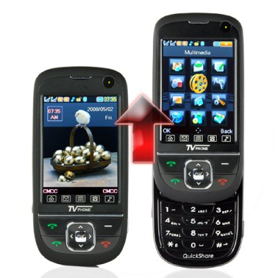QuickSlide Quad Band Dual SIM Cell Phone + TV