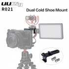R021 General Camera Cage Rig Double Dual Hot Cold Shoe Mic Bracket Universal Camera Accessories black