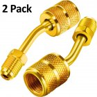 R410a Charging Vacuum Port Adapter Brass Converter for Mini  Air Conditioner Refrigeration 2pcs