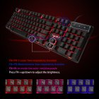 R8 Gaming Keyboard Imitation Mechanical Keyboard with RGB Backlight 104 Keys for English+Russian Gamer  R8 English + Russian