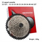 RACEWORK 11-42 11-46 11-50T 11-52T 10/11/12 Speed Mountain Mtb Bike Bicycle Cassette Flywheel Compatible for Sram Shimano 11 speed 11-52T Silver Black