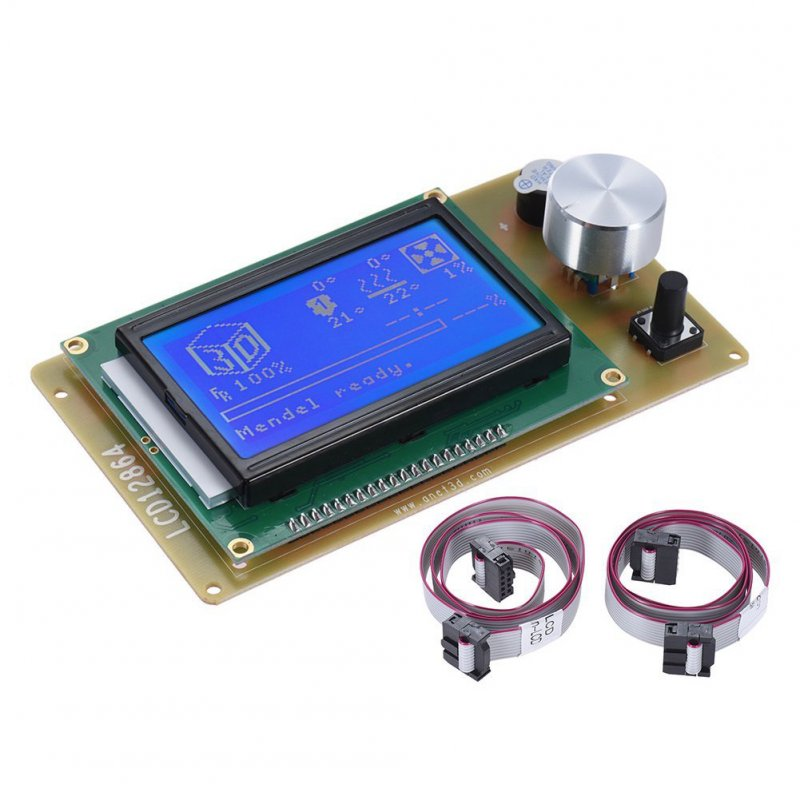 RAMPS1.4 LCD12864 Display Control Panel Blue Screen 3D Printer Controller Motherboard for Anet A6 A8 3D Printer with Cable