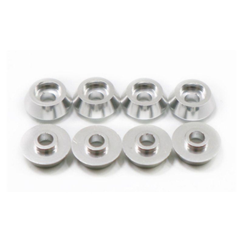 RBR/C 8Pcs/set Head Metal Bolt Gasket for WPL C14 C24 C34 C44 MN model RC Car Alloy Aluminium Countersunk Washer Silver