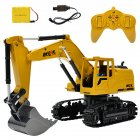 RC Alloy Construction Car Digger 8 CH Alloy Excavator 1:24 RC Construction Vehicle Toys Alloy Car Model As shown_1:24