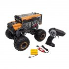 RC Car 1/16 Driving Car Double Motors Drive Bigfoot Car Remote Control Car Model Off-Road Vehicle Toy Orange