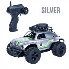 RC Cars Remote Control Toys MN36 off-road climbing car 1:18 beetle two-wheel driver children Youth model blue, silver 2.4GHz silver
