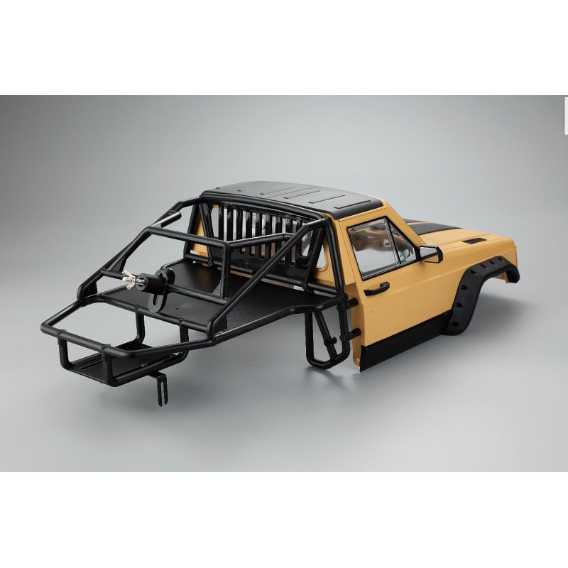 RC Cherokee Body Cab & Back-Half Cage for 1/10 RC Crawler Traxxas TRX4 Axial SCX10 90046 Cab&Cage Yellow