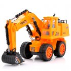 RC Excavator is 1 10 Scale and comes with a Rechargeable Battery as well as a Charger