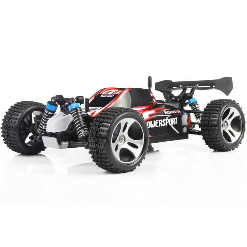 RC Mini Car WLtoys A959 2.4G 1/18 Scale Remote Control Off-road Racing Car SUV Toy Gift for Boy red